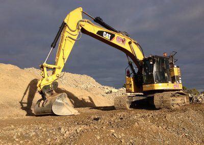 Our advanced Caterpiller excavator on work site